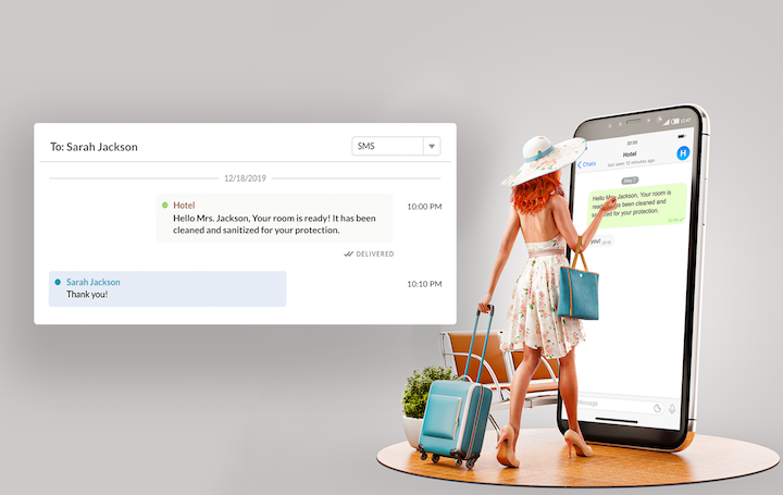 Use text messaging software like ALICE for contactless communication with your hotel guests